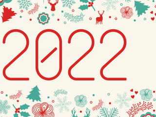 New Year 2022 Greeting wallpaper