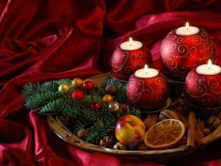 HD Wallpaper | Background Image new year, christmas, candles