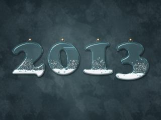 HD Wallpaper | Background Image new year, numbers, snow