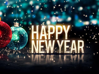 New Year with Decoration Background wallpaper