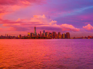 HD Wallpaper | Background Image New York City Cloudy Cityscape Sunset