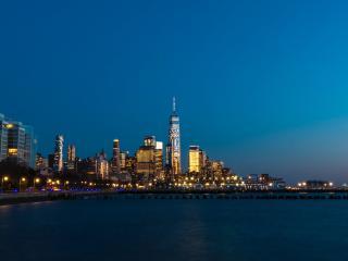 HD Wallpaper | Background Image New York City Skyscraper At Night