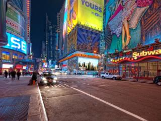 HD Wallpaper | Background Image new york, night, street