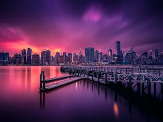 New York Nightscape wallpaper