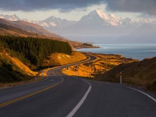 New Zealand Landscape Road wallpaper