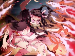 Nezuko Kamado Angry Art wallpaper