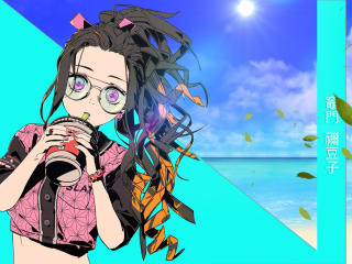 Nezuko Kamado Cool Art wallpaper