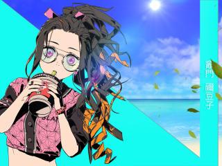 Nezuko Kamado Cool Art wallpaper