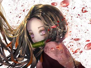 Nezuko Kamado Kimetsu no Yaiba Art wallpaper