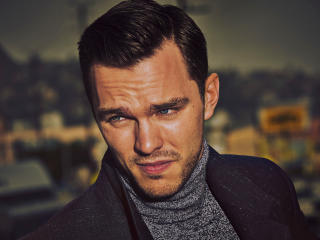 nicholas hoult, actor, beard wallpaper