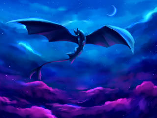 Night Fury Digital Art wallpaper
