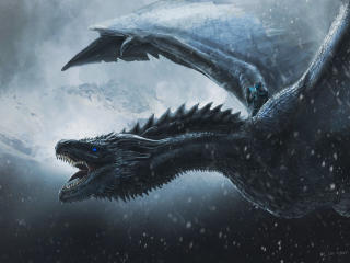 Night King Dragon Art wallpaper