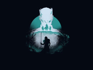 Night King vs Wolf Game Of Thrones 8 Artwork wallpaper