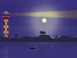 Night Landscape Vector wallpaper