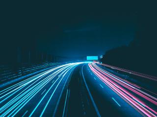 Night Lights Road wallpaper