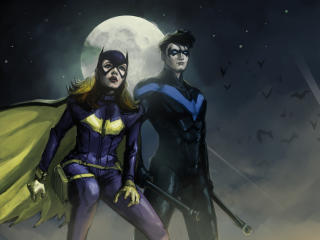 Nightwing and Batwoman DC 5K Art wallpaper