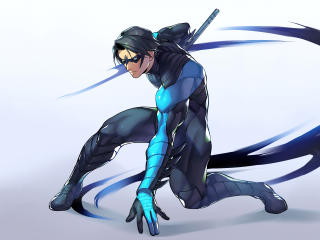 Nightwing DC Comic Digital 5K wallpaper