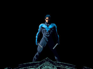 Nightwing Minimal Art wallpaper