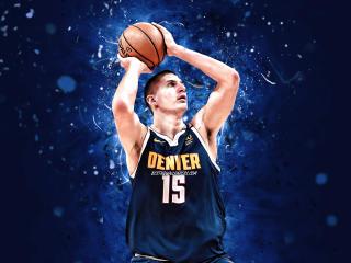 Nikola Jokic 2021 Denver Nuggets wallpaper