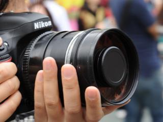 nikon, camera, hands wallpaper