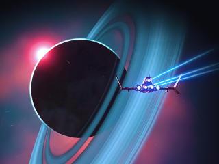 No Mans Sky Saturn Planet wallpaper