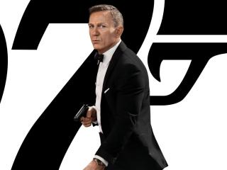 No Time To Die Daniel Craig as James Bond wallpaper