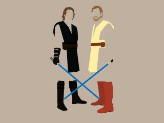 Obi-Wan Kenobi and Anakin Skywalker wallpaper