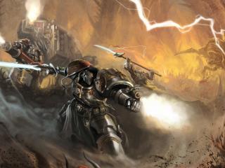 okita, warhammer 40k, space marines wallpaper