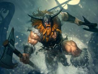 Olaf 8K League Of Legends wallpaper