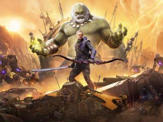 Old Hulk and Hawkeye Marvels Avengers wallpaper