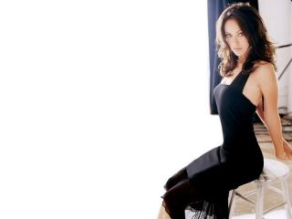 Olivia Wilde In Hot Black Dress wallpaper wallpaper