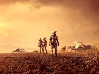 On Mars Landscape wallpaper