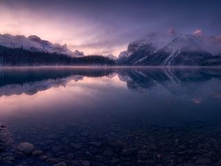 Ontario Mountains Reflection Lake wallpaper