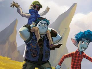 Onward Movie Characters Art wallpaper