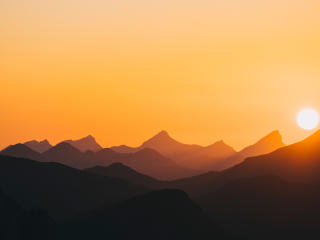 Orange Sunrise at Hills wallpaper