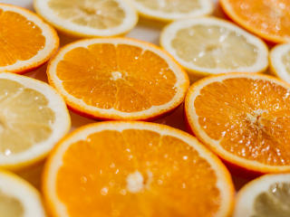 oranges, slicing, lemons wallpaper
