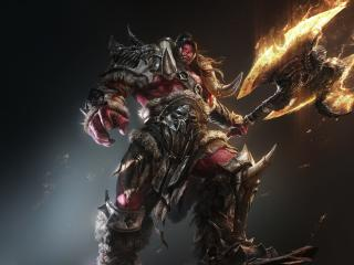 Orc Warrior With Axe wallpaper