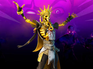 Oro Skeleton King Fortnite wallpaper