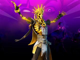 Oro Skeleton King Fortnite wallpaper