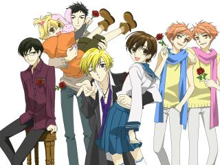 ouran high school host club, 2006, anime wallpaper