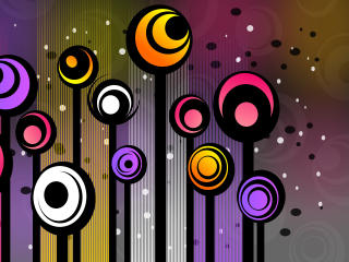 Oval Colorful Pattern wallpaper