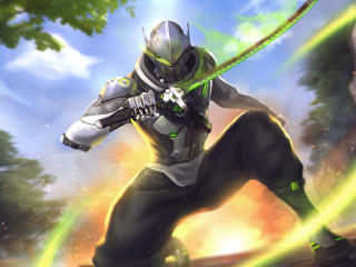 Overwatch Genji wallpaper