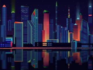Panorama Vector City wallpaper