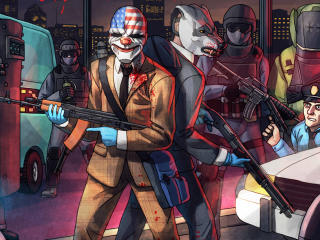 Payday 2 Dallas And Wolf wallpaper