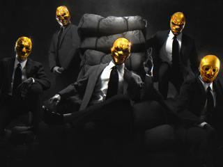 Payday Gold Masks wallpaper