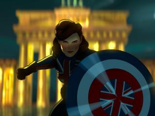 Peggy Carter as Captain America wallpaper
