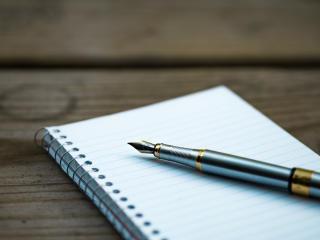 pen, notebook, spiral wallpaper