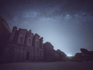 HD Wallpaper | Background Image Petra at Night