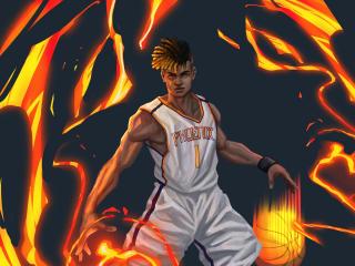 Phoenix Valorant as Basketball Player wallpaper