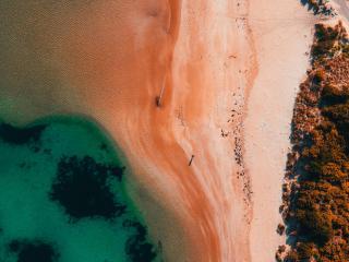 Photography Aerial Beach 4K wallpaper